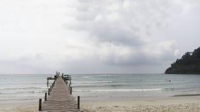 Barcos no cais da ilha do coco do paraíso Imagem de Stock Royalty Free
