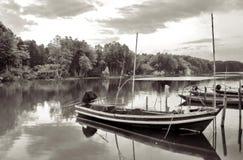 Barcos no canal fotografia de stock