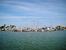 Barcos no golfo Fotografia de Stock Royalty Free