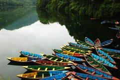 Barcos no lago fotografia de stock