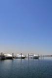 Barcos no lago Imagem de Stock