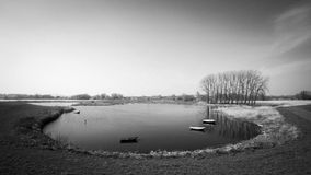 Barcos no lago Fotos de Stock Royalty Free
