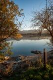 Barcos no lago Foto de Stock