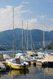 Barcos no lago Como Fotografia de Stock Royalty Free