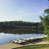 Barcos no lago - dia ensolarado foto de stock royalty free