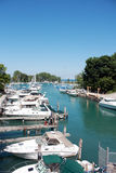 Barcos no lago Michigan Foto de Stock
