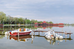 Barcos no lago Palic Fotografia de Stock Royalty Free