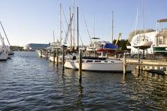 Barcos no louro de Chesapeake imagens de stock