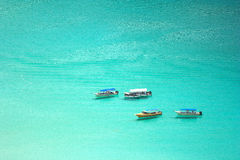 Barcos no mar Imagem de Stock Royalty Free