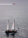 Barcos no mar Fotografia de Stock Royalty Free