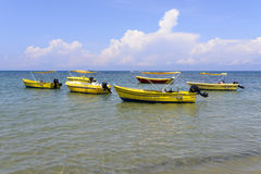 Barcos no mar Foto de Stock Royalty Free