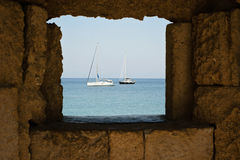 Barcos no MED Fotografia de Stock Royalty Free