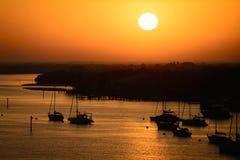 Barcos no oceano Imagens de Stock Royalty Free