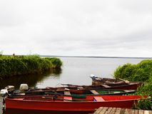 Barcos no parque em Bielorrússia fotos de stock royalty free
