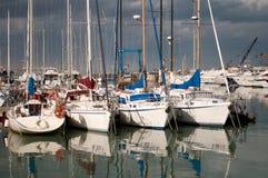 Barcos no porto Imagem de Stock