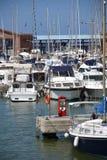 Barcos no porto Imagens de Stock