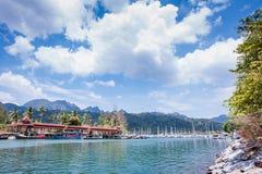 Barcos no porto Fotos de Stock Royalty Free