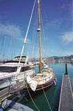 Barcos no porto CA de Sausalito imagem de stock