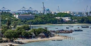 Barcos no porto, Dar Es Salaam, Tanzânia imagem de stock