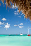 Barcos no porto de Aruba Fotos de Stock Royalty Free