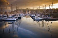 Barcos no porto de Hendaye Foto de Stock