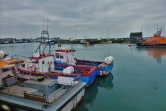Barcos no porto de Howth fotos de stock