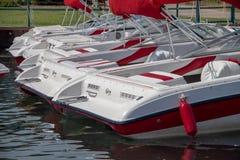 Barcos no porto de Lake Tahoe imagem de stock