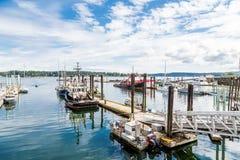 Barcos no porto de Nanaimo fotografia de stock