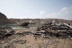 Barcos no porto de Sur Foto de Stock Royalty Free