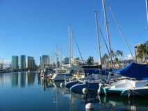 Barcos no porto Havaí Fotos de Stock