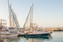 Barcos no porto na baía de Gordons Imagens de Stock