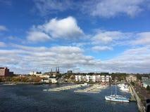 Barcos no porto Príncipe Edward Island charlottetown fotos de stock