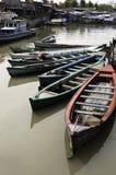 Barcos no precário de Jakarta Fotografia de Stock