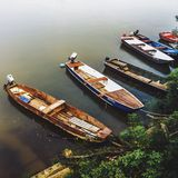 Barcos no rio Danúbio imagem de stock