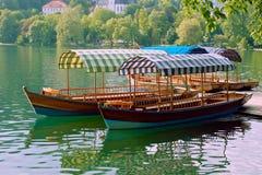 Barcos no sangrado Fotografia de Stock Royalty Free
