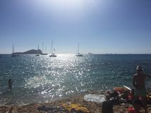 Barcos no sol Foto de Stock