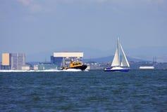 Barcos no som de Lancaster Foto de Stock Royalty Free