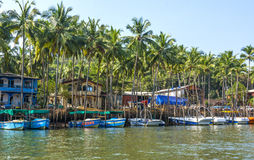 Barcos no suporte Imagem de Stock