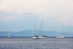 Barcos. Opinión del mar Fotografía de archivo