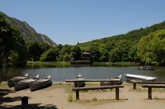 Barcos para el campamento de verano Foto de archivo libre de regalías