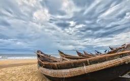 Barcos para evitar a tempestade Fotografia de Stock