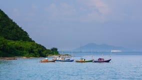 Barcos parqueados del pescador Imagen de archivo libre de regalías