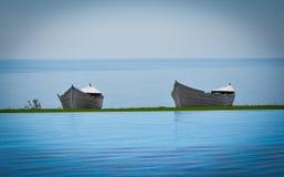 Barcos pelo mar Foto de Stock Royalty Free