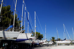 Barcos que estacionam 2 Fotografia de Stock