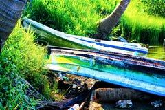 Barcos rústicos mexicanos coloridos Imágenes de archivo libres de regalías
