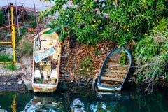 Barcos rústicos mexicanos coloridos Foto de archivo libre de regalías