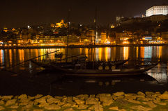 Barcos rabelos in the river Douro royalty free stock photos
