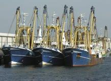 Barcos rastreadores Fotos de archivo libres de regalías