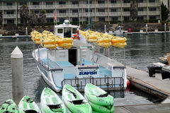 Barcos recreacionais no porto de Oxnard fotografia de stock royalty free