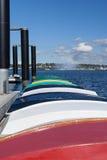 Barcos a remos coloridos foto de stock royalty free